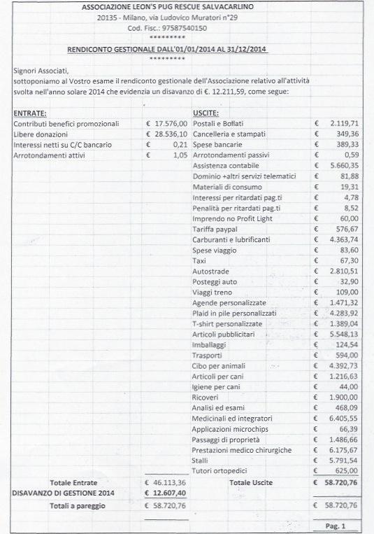 bilancio 2014 pag 1